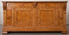 French 19th Century Burled Elmwood Biedermeier Buffet - 1395015