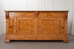French 19th Century Burled Elmwood Biedermeier Buffet - 1395016
