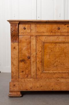 French 19th Century Burled Elmwood Biedermeier Buffet - 1395019
