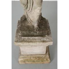 French 19th Century Cast Stone Statue on Pedestal - 1937312