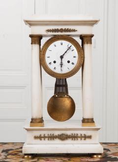 French 19th Century Empire Portico Clock - 1042961