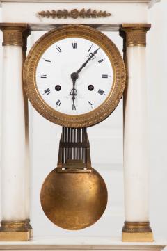 French 19th Century Empire Portico Clock - 1042963