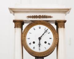 French 19th Century Empire Portico Clock - 1042964