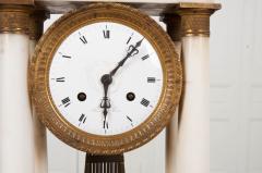 French 19th Century Empire Portico Clock - 1042966