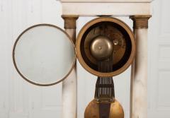 French 19th Century Empire Portico Clock - 1042969