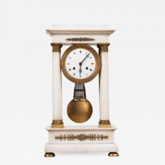French 19th Century Empire Portico Clock - 1043853