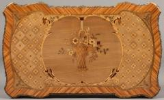 French 19th Century Floral Marquetry and Gilt Bronze Table - 625719