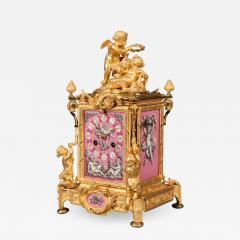 French 19th Century Gilt Bronze and Pink Porcelain Carriage Clock - 623880