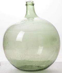 French 19th Century Green Blown Glass Wine Keg - 1291239