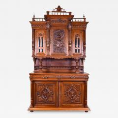 French 19th Century Henry II Renaissance Revival Walnut Buffet - 161982