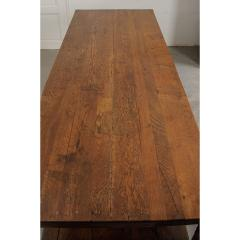 French 19th Century Large Oak Drapery Table - 1794784