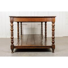 French 19th Century Large Oak Drapery Table - 1794788
