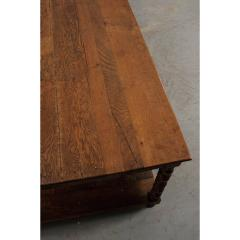 French 19th Century Large Oak Drapery Table - 1794804