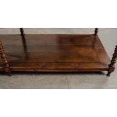 French 19th Century Large Oak Drapery Table - 1794807