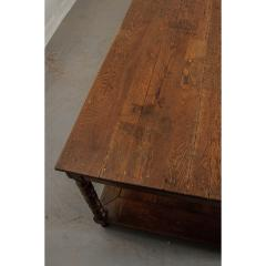 French 19th Century Large Oak Drapery Table - 1794810