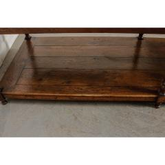 French 19th Century Large Oak Drapery Table - 1794826