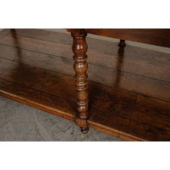 French 19th Century Large Oak Drapery Table - 1794828