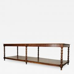French 19th Century Large Oak Drapery Table - 1815935