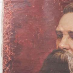 French 19th Century Large Portrait on Canvas - 1409755