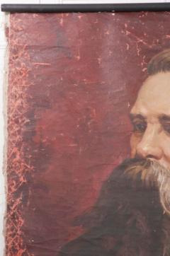 French 19th Century Large Portrait on Canvas - 1409758