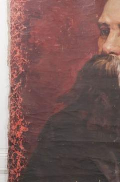 French 19th Century Large Portrait on Canvas - 1409759