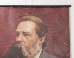 French 19th Century Large Portrait on Canvas - 1409764