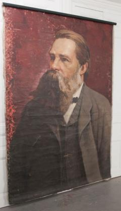 French 19th Century Large Portrait on Canvas - 1409770