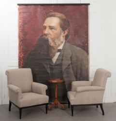 French 19th Century Large Portrait on Canvas - 1409771
