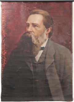 French 19th Century Large Portrait on Canvas - 1409959