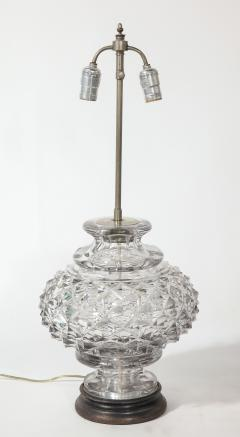 French 19th Century Lead Crystal Lamp - 1600854