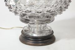 French 19th Century Lead Crystal Lamp - 1600855