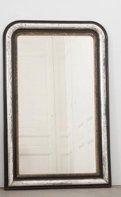 French 19th Century Louis Philippe Argent and Ebonized Mirror - 1114199