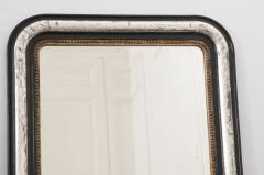 French 19th Century Louis Philippe Argent and Ebonized Mirror - 1114203