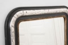 French 19th Century Louis Philippe Argent and Ebonized Mirror - 1114204