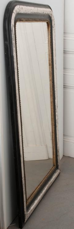 French 19th Century Louis Philippe Argent and Ebonized Mirror - 1114205
