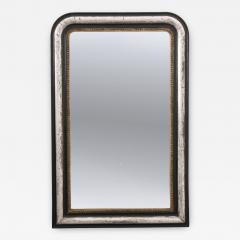 French 19th Century Louis Philippe Argent and Ebonized Mirror - 1114389