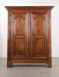 French 19th Century Louis XIII Style Oak Armoire - 1075264