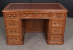 French 19th Century Louis XVI Style Mahogany and Oak Pedestal Desk - 1817337