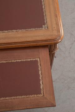 French 19th Century Louis XVI Style Mahogany and Oak Pedestal Desk - 1817339