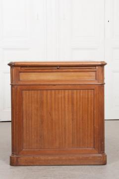 French 19th Century Louis XVI Style Mahogany and Oak Pedestal Desk - 1817341