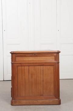 French 19th Century Louis XVI Style Mahogany and Oak Pedestal Desk - 1817343