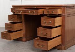 French 19th Century Louis XVI Style Mahogany and Oak Pedestal Desk - 1817346