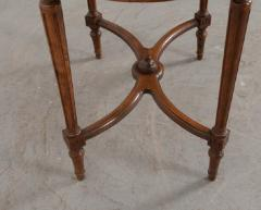 French 19th Century Louis XVI Style Oak Marble Top Table - 1817358