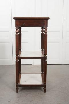 French 19th Century Louis XVI Style Oak and Marble Three Tier Etagere - 832919