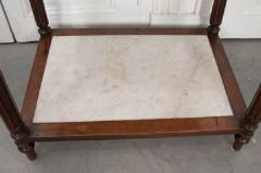French 19th Century Louis XVI Style Oak and Marble Three Tier Etagere - 832923