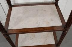 French 19th Century Louis XVI Style Oak and Marble Three Tier Etagere - 832924