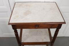 French 19th Century Louis XVI Style Oak and Marble Three Tier Etagere - 832925