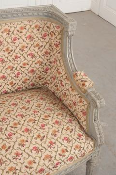 French 19th Century Louis XVI Style Painted Canap  - 1085169
