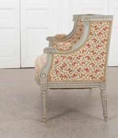 French 19th Century Louis XVI Style Painted Canap  - 1085170