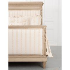 French 19th Century Louis XVI Style Queen Painted Bed - 2076272